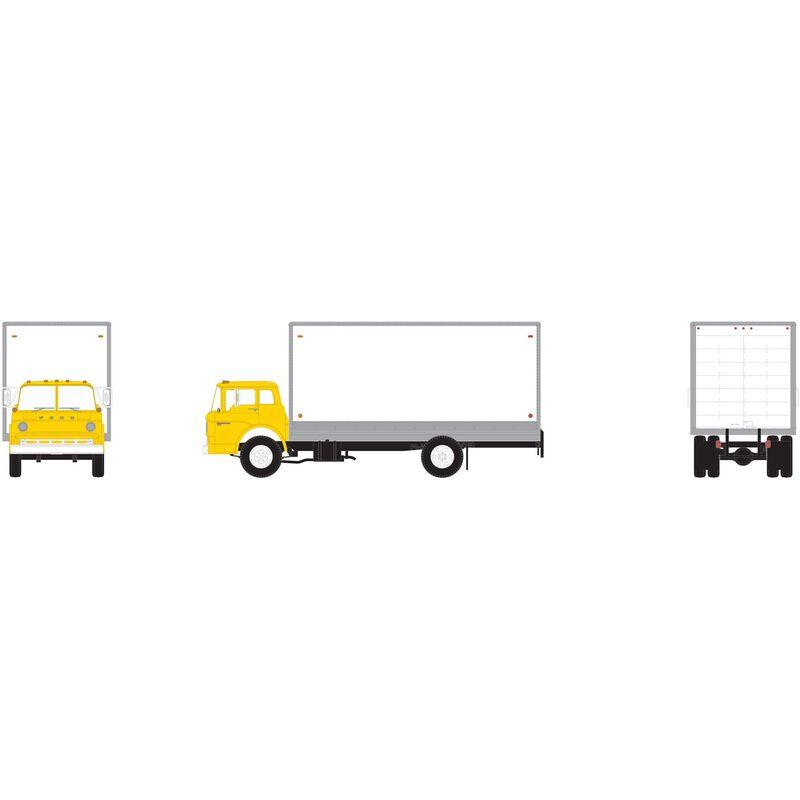 HO RTR Ford C Box Van, Yellow