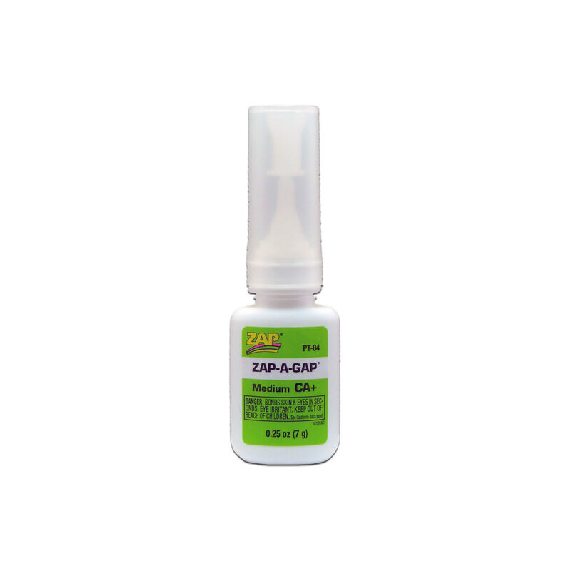 Zap-A-Gap Medium CA+ Glue, 1/4 oz