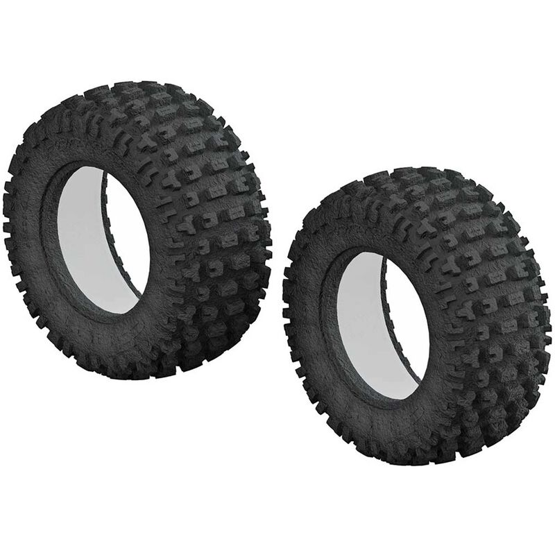 1/10 dBoots Fortress Short Course Front/Rear 3.0/2.2 Tire & Inserts (2)
