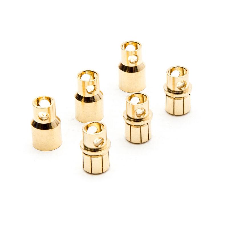 Connector: Gold Bullet Set, 8.0mm (3)