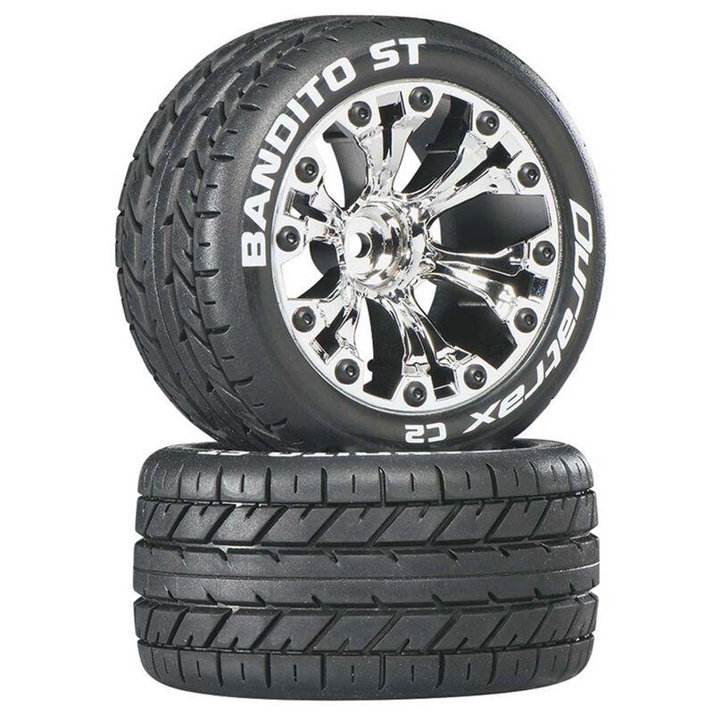 "Bandito ST 2.8"" Mounted 1/2"" Offset C2 Tires, Chrome (2)"