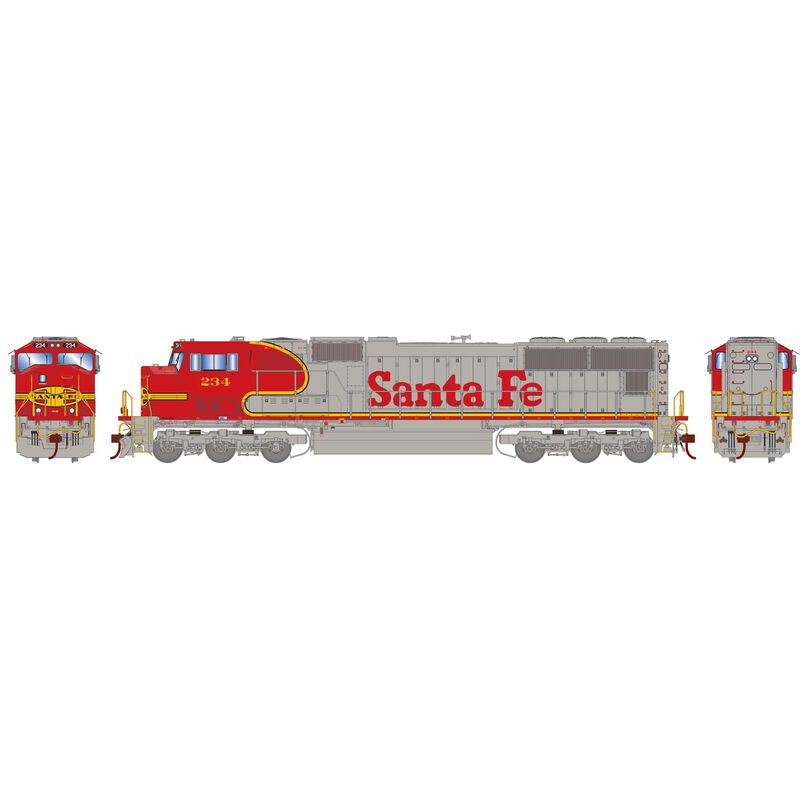HO SD75M with DCC & Sound SF Warbonnet #234