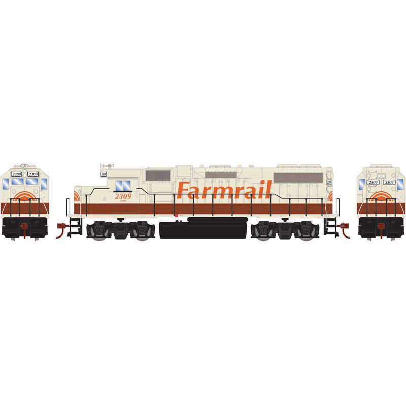 HO GP38-2 with DCC Decoder GNBC Farmrail #2309