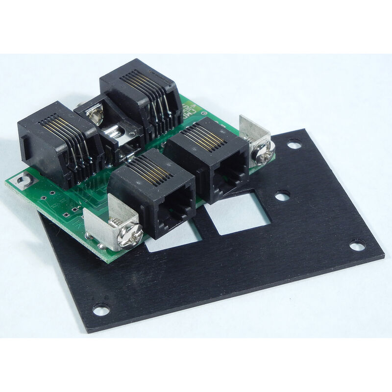 Cab Bus Fascia Panel 4 RJ12 Jacks