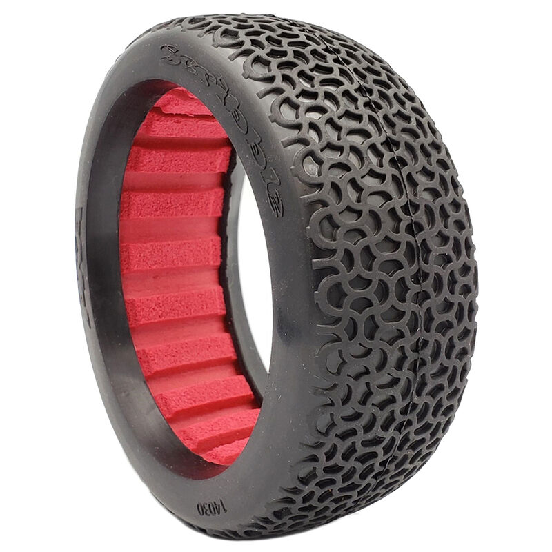 1/8 Buggy Scribble Super Soft Longwear Tires, Red (2)