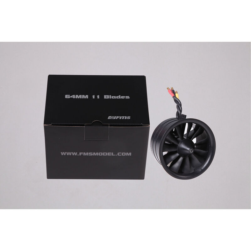11-Blade Ducted Fan with KV3150 Motor, 64mm
