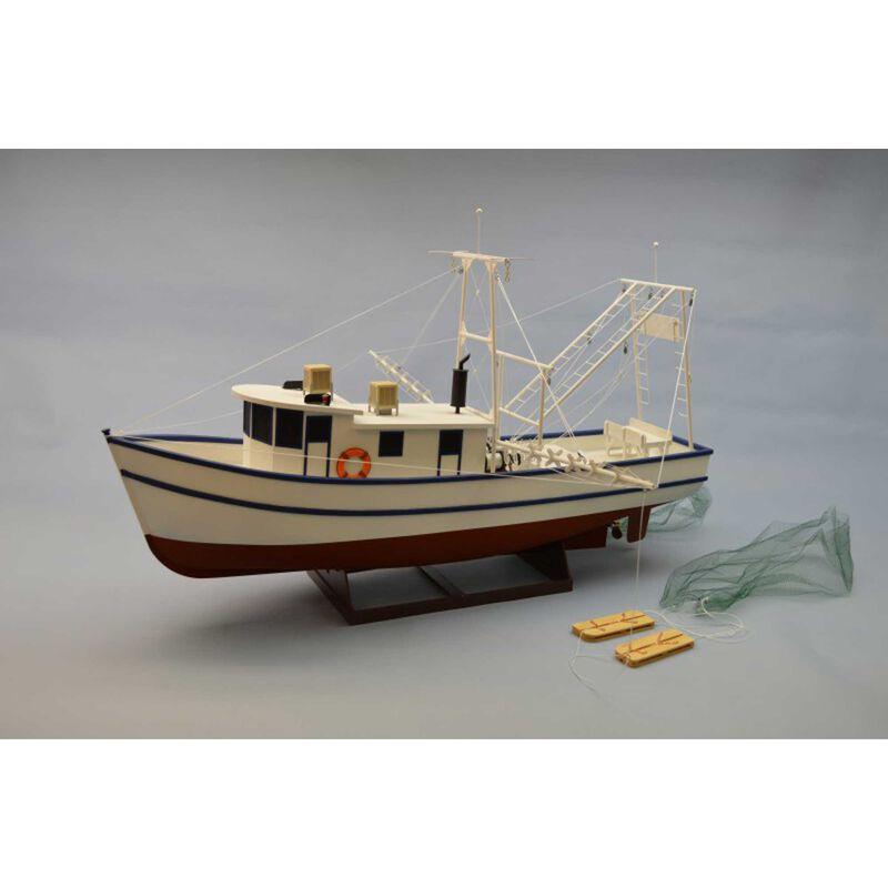 """1 24 Rusty Coastal Shrimp Boat Kit 36"""""""