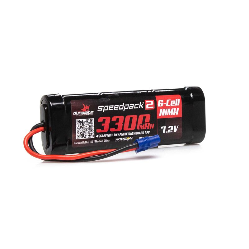 7.2V 3300mAh 6-Cell Speedpack2 Flat NiMH Battery: EC3
