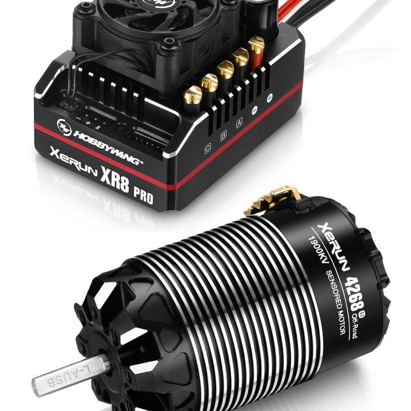 XeRun XR8 PRO G2 ESC + 4268 G3 Motor Combo, 1900Kv