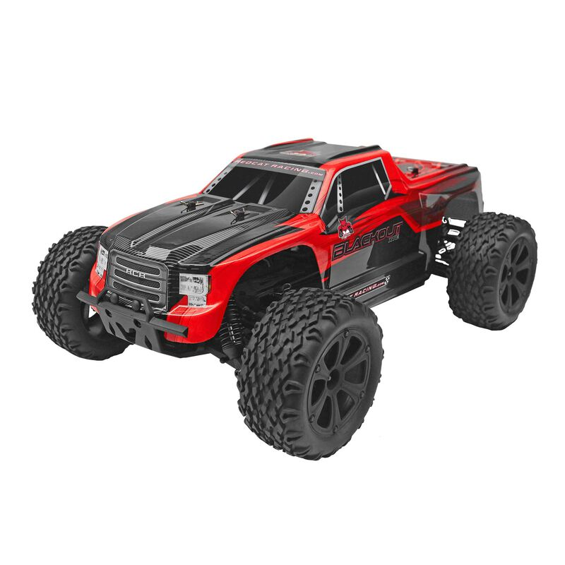 1/10 Blackout XTE 4WD Monster Truck Brushed RTR, Red