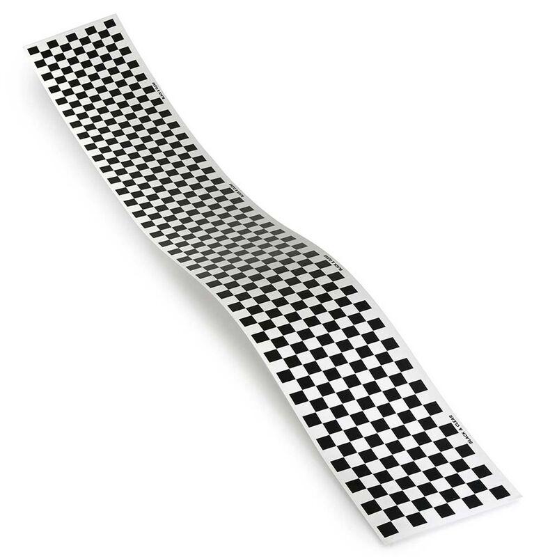 Trim MonoKote Checkerboard Black