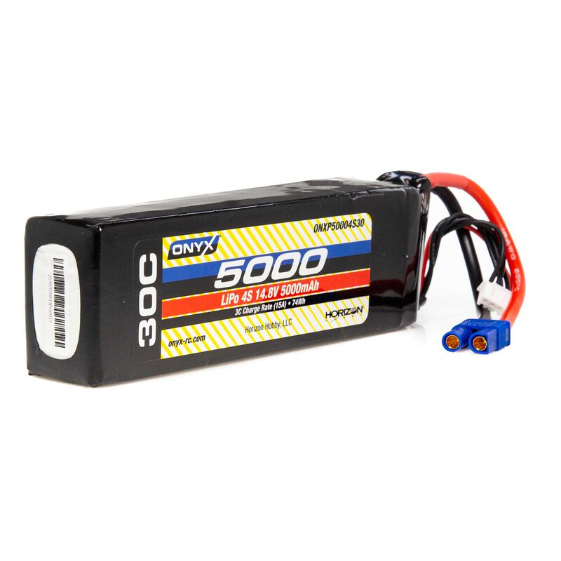 14.8V 5000mAh 4S 30C LiPo Battery: EC3