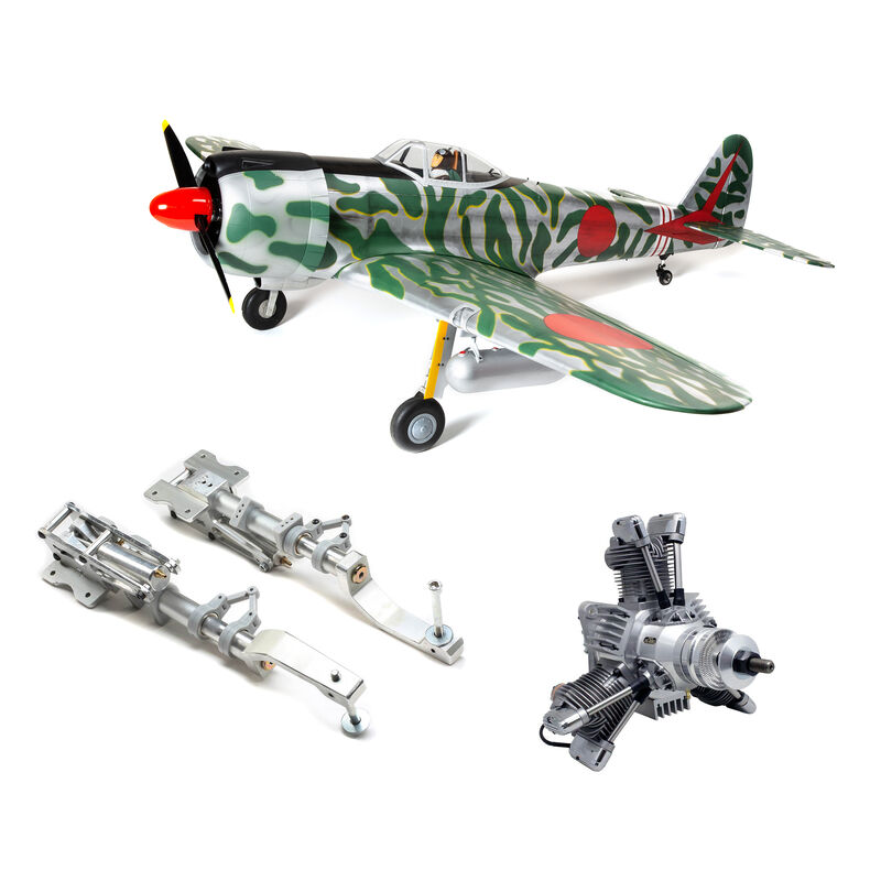 "Ki-43 Oscar 60cc ARF, 88"" with Main Retract Set & Saito FG-90R3 Gas Engine"