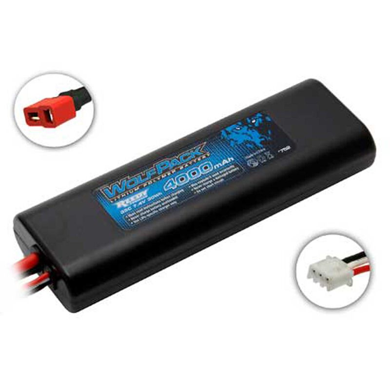7.4V 4000mAh 2S 35C Reedy WolfPack LiPo Battery: T-plug