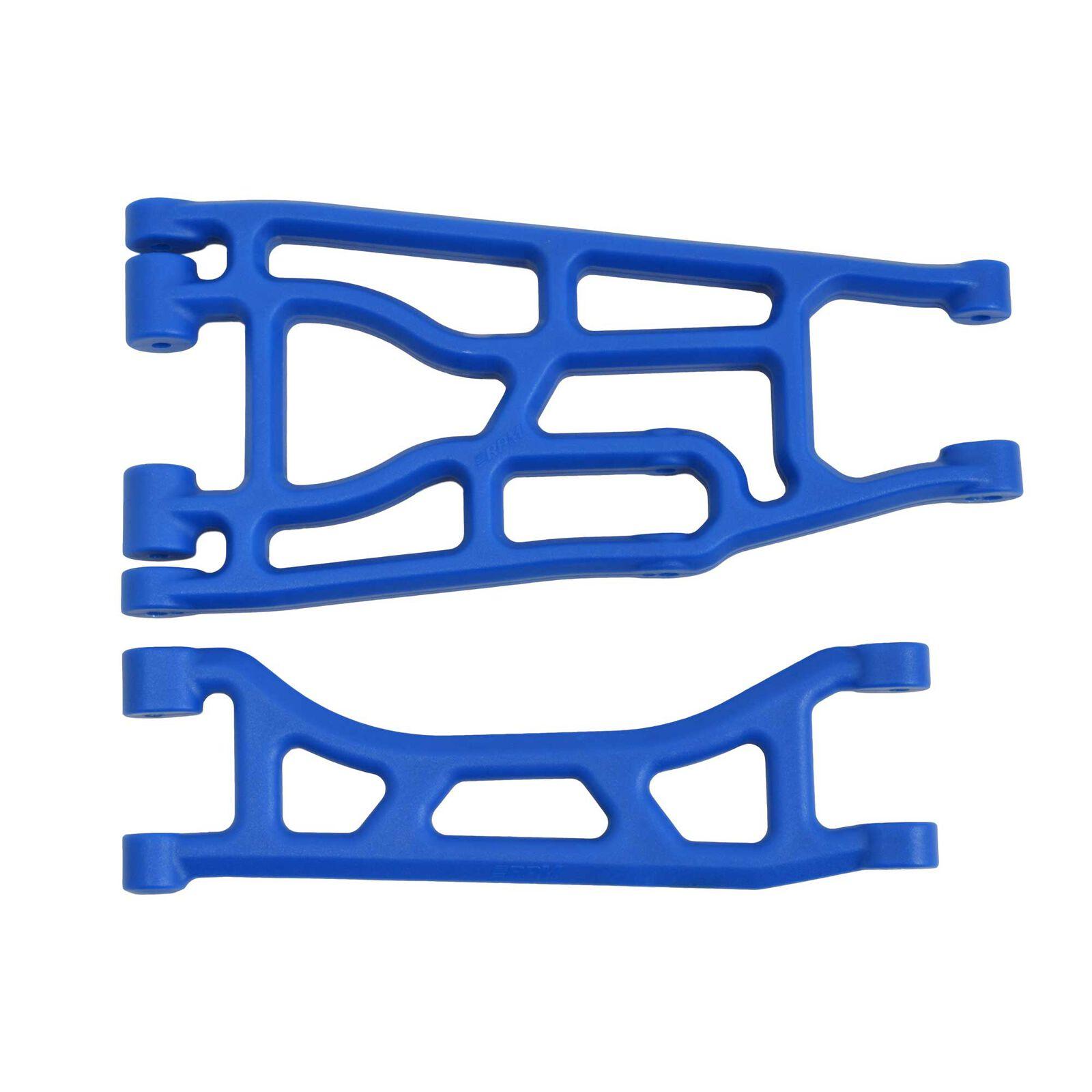 Upper and Lower A-arm Pair, Blue: Traxxas X-Maxx