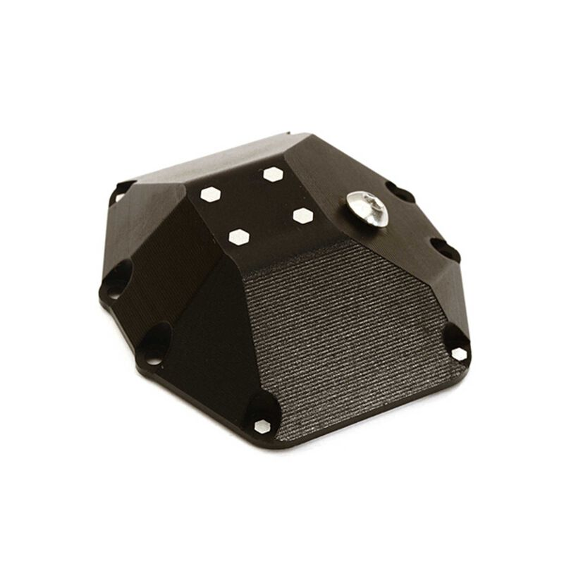 Mach Alloy Differential Cover, Black: Yeti RR10 & Wraith