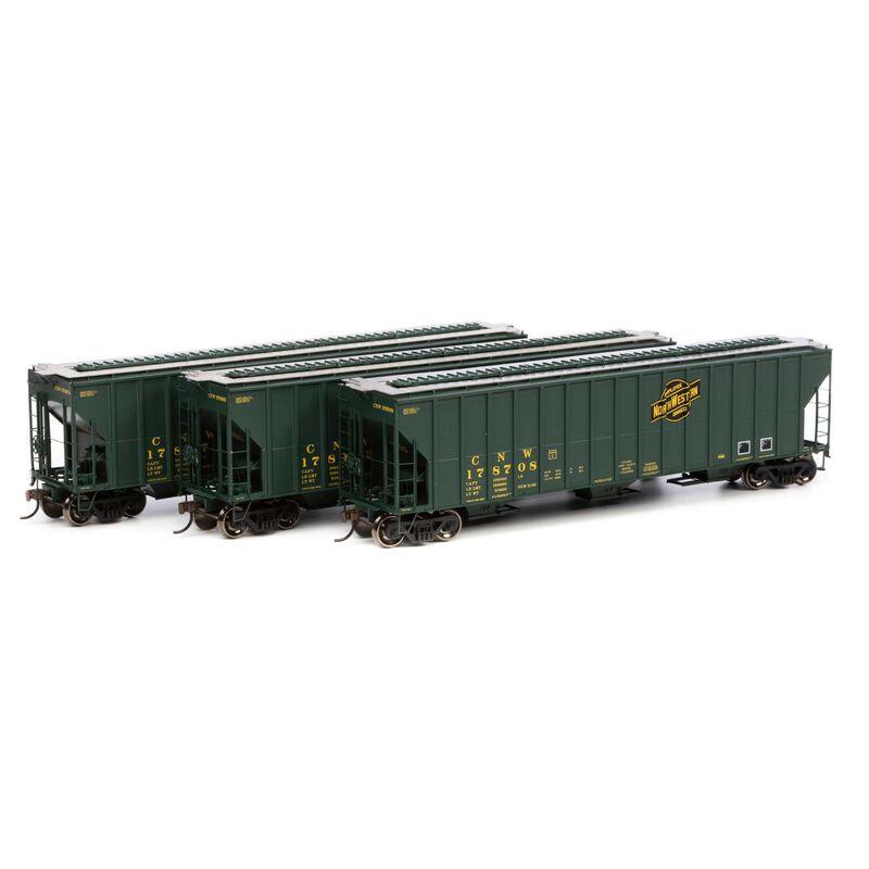 HO RTR FMC 4700 Covered Hopper C&NW # (3)