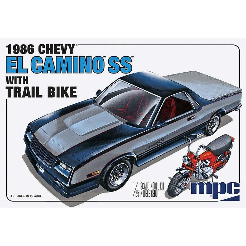 1 25 1986 Chevy El Camino SS w Dirt Bike