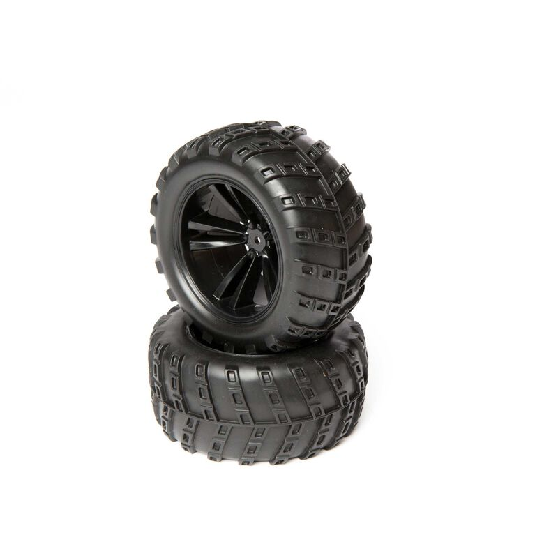 Wheel and Tire Set (2): 1/10 4WD Outbreak