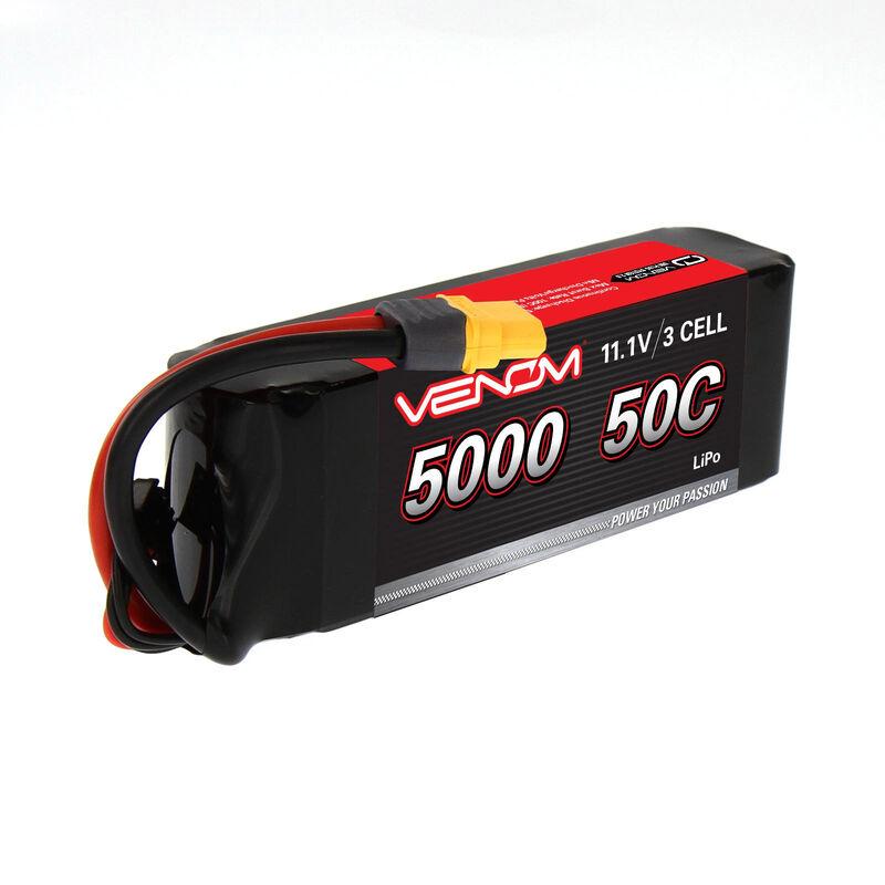 11.1V 5000mAh 3S 50C DRIVE LiPo Battery: UNI 2.0 Plug