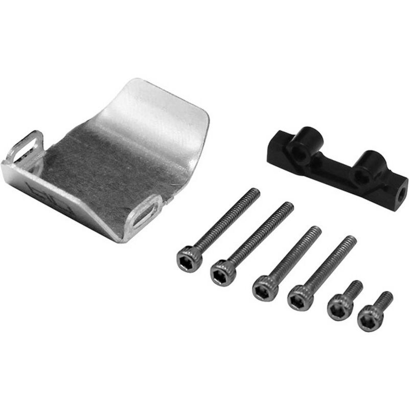 Stainless Steel Front/Rear Axle Skid Plate: SCX24