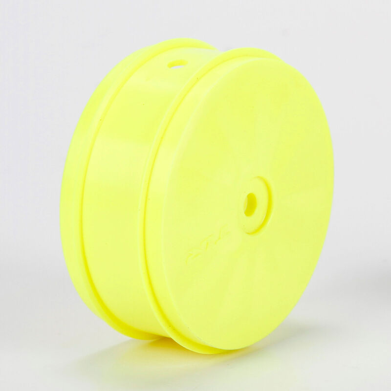 1/10 Front Buggy 61mm Wheels, 12mm Hex, Yellow (2): 22-4