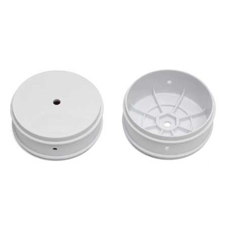 1/10 61mm Front Wheels, White (2): Buggy