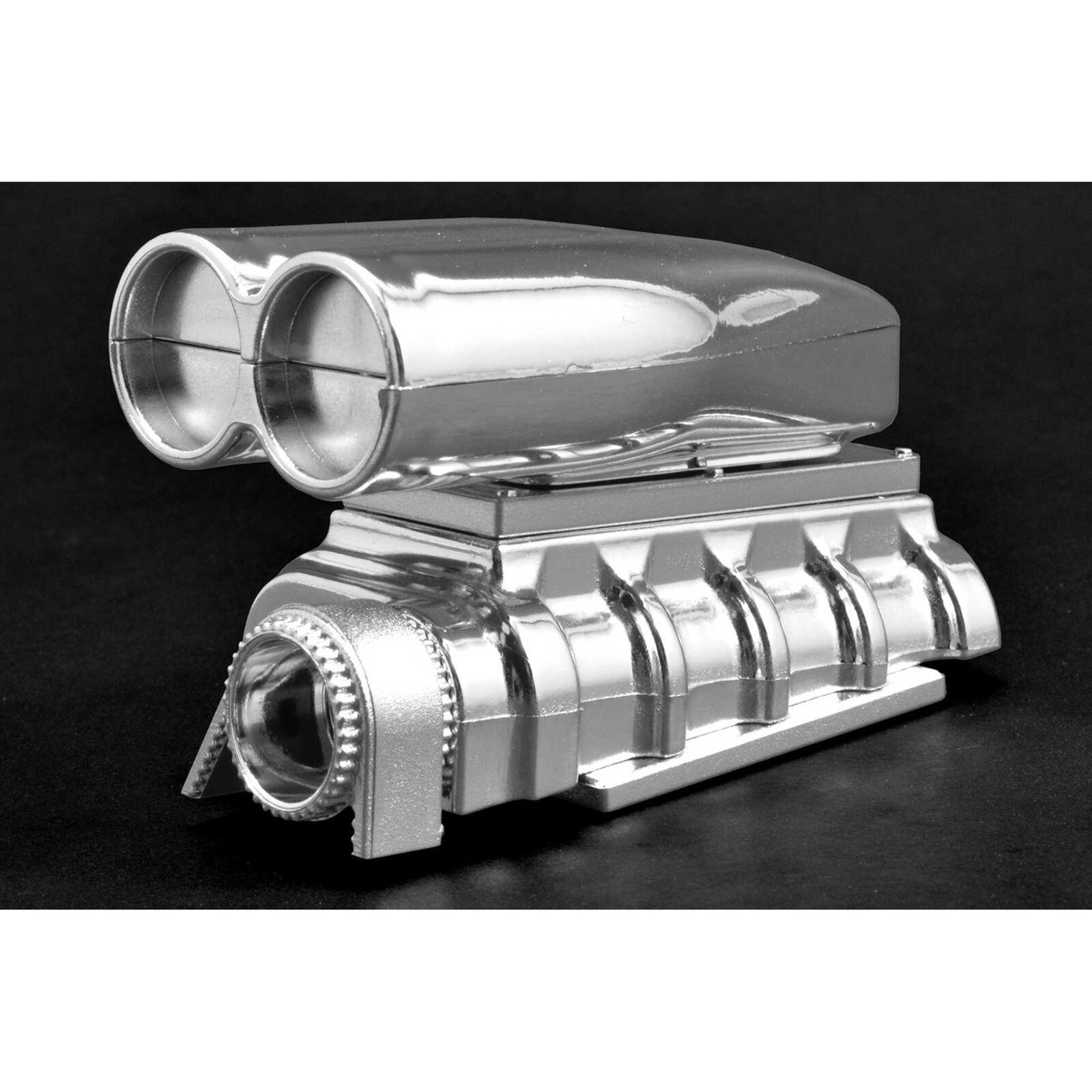 Chrome Shotgun Style Mock Intake & Blower