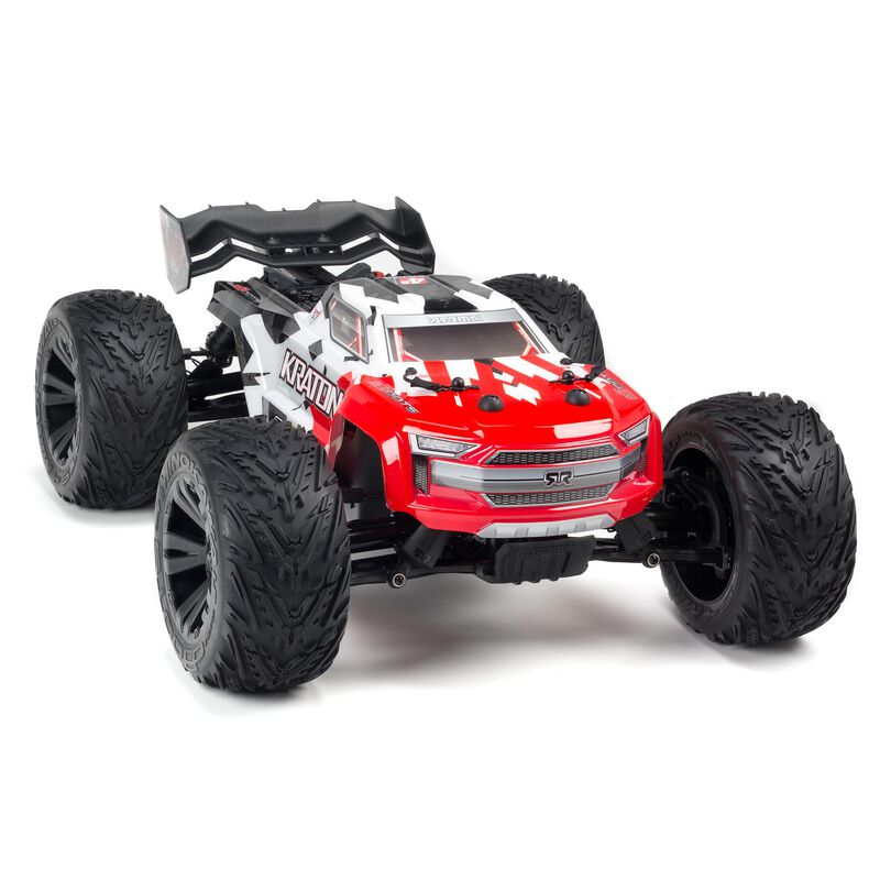 1/10 KRATON 4x4 4S BLX Brushless Monster Truck with Spektrum RTR, Red