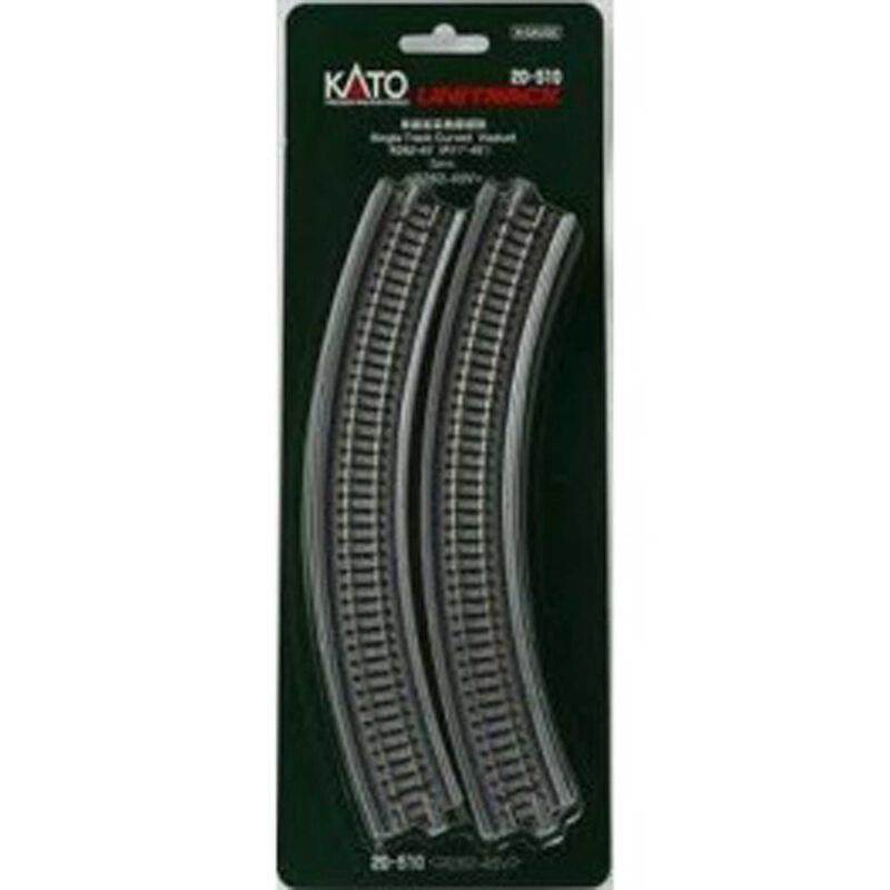"""N 282mm 11"""" Radius 45-Degree Viaduct (2)"""