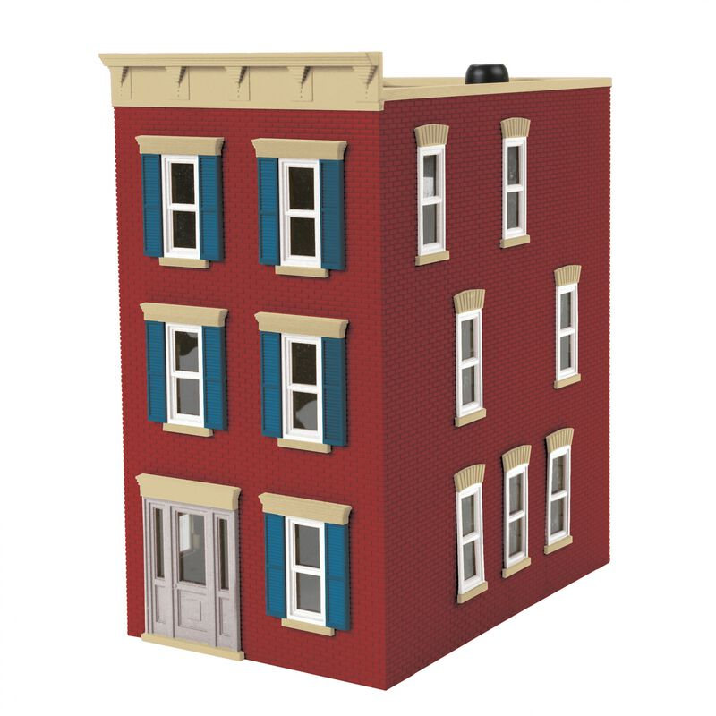 O 3-Story Town House #2 City Brick Red