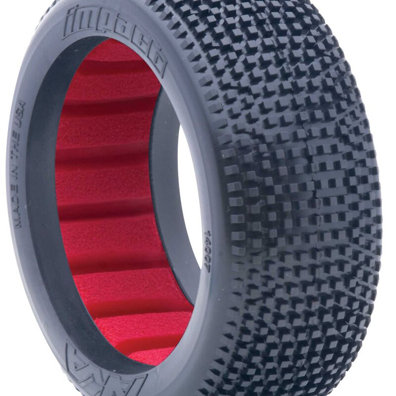 1/8 Impact Soft Front/Rear Tire with Red Insert: Buggy (2)
