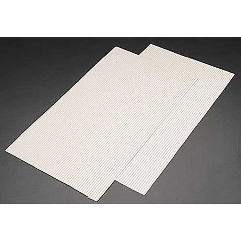 PS-13 HO Ribbed Roofs (2), White