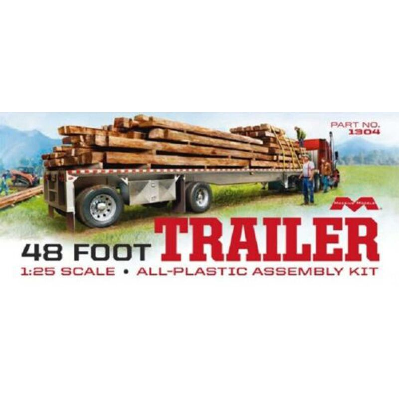 48' Flatbed Trailer w/Cambered Deck 1/25