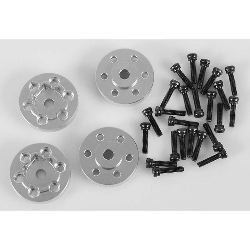 OEM Steel 1.9 Stock Beadlock Wheel Hexes, CNC Aluminum