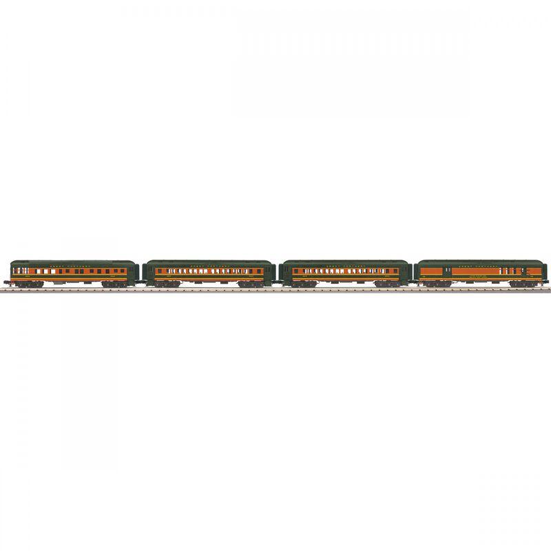 O-27 60' Madison Passenger Cars Set GN #32 (4)