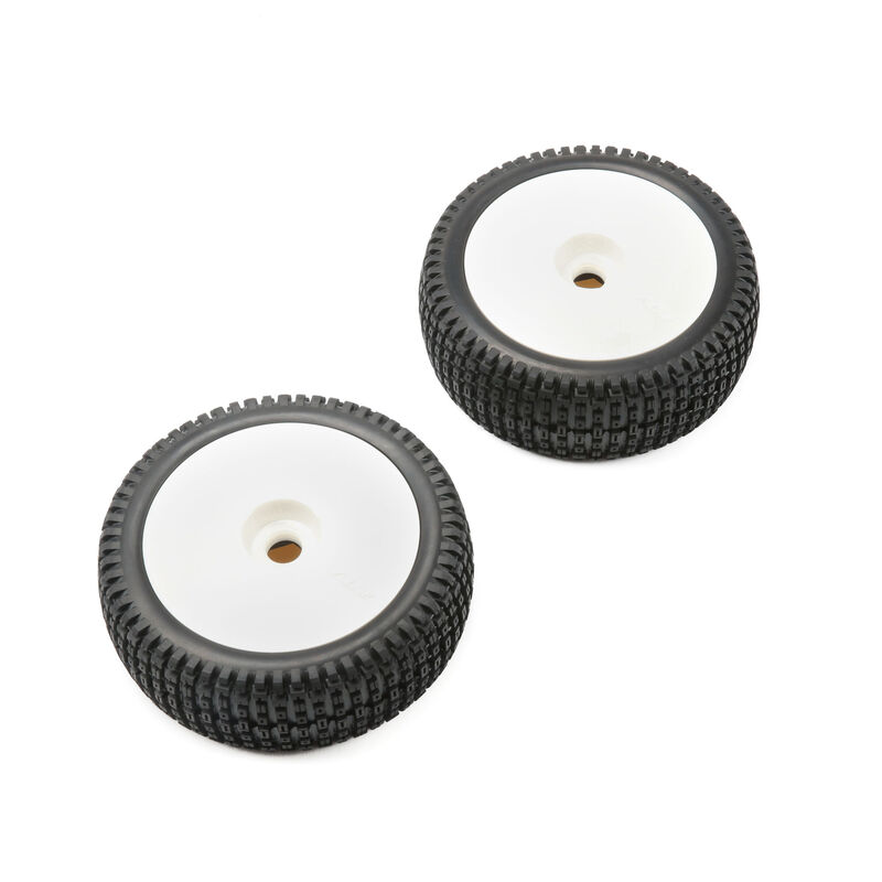 1/5 Mounted Wheel and Tire, White (2): 5IVE-B
