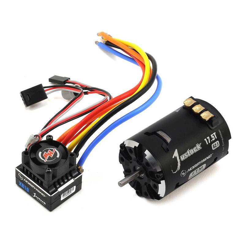 XR10 Justock ESC/Fixed Timing Motor Combo, 17.5, Black/Silver