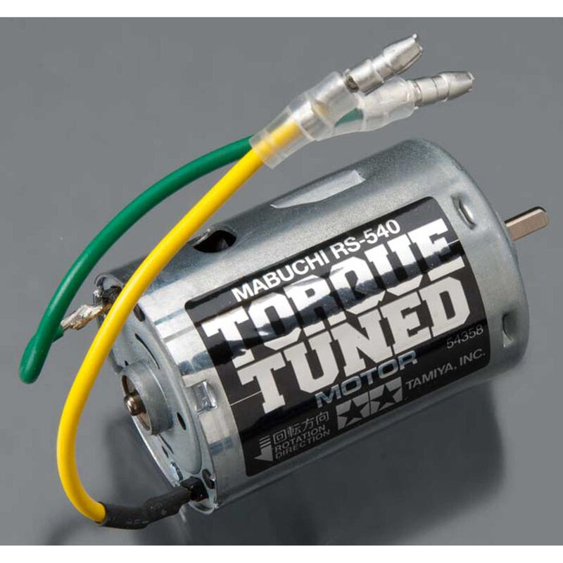 RS-540 Torque-Tuned Brushed Motor: 3.5mm Bullet