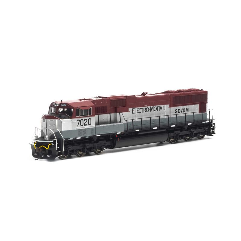 HO SD70M with DCC & Sound EMDX Maroon Silver #7020