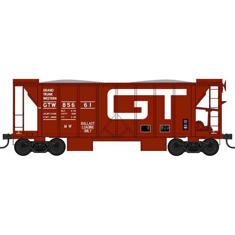 HO 70 Ton 2 Ballast Car with Side Chutes, GTW 85661