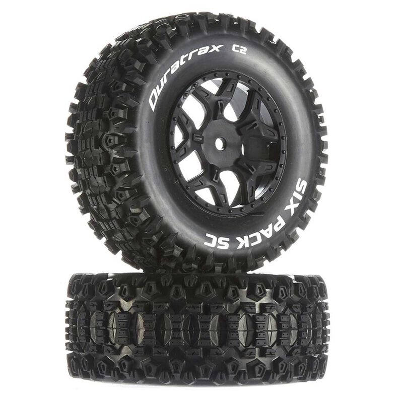 Six-Pack SC C2 Mounted Tires: Losi SCTE 4x4 (2)