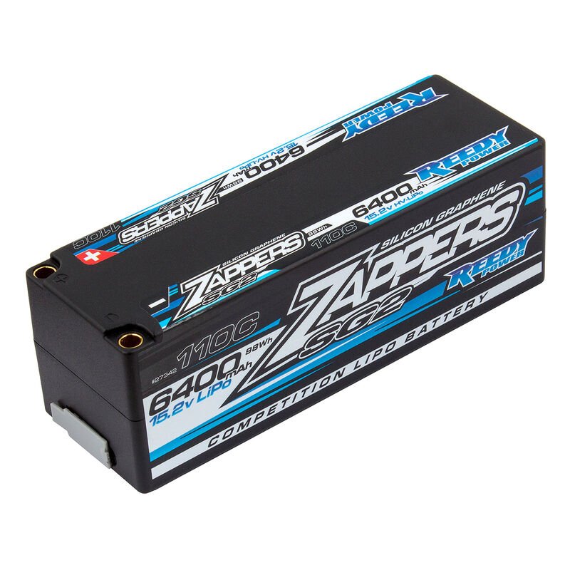 15.2V 6400mAh 4S 110C Reedy Zappers SG2 HV-LiPo Battery: Tubes, 5mm