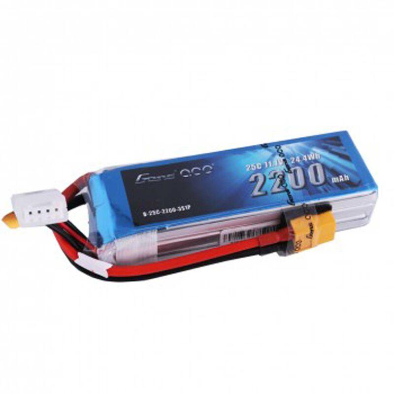 11.1V 2200 Capacity 3S Voltage 25C Rate XT60