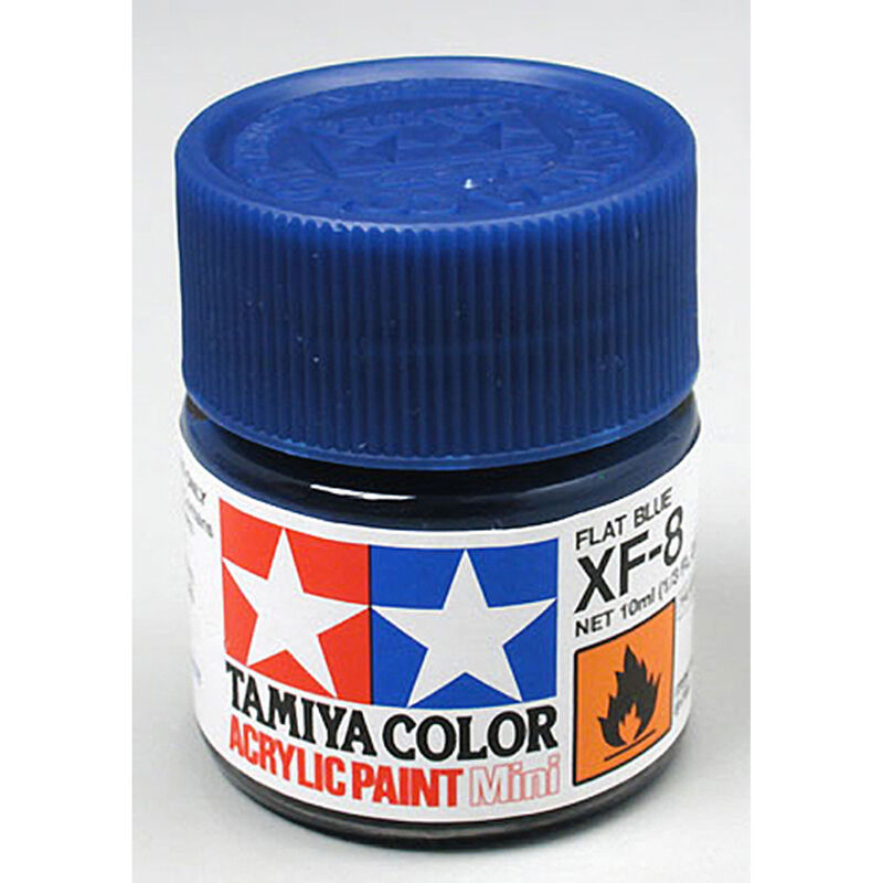 Acrylic Mini XF8, Flat Blue