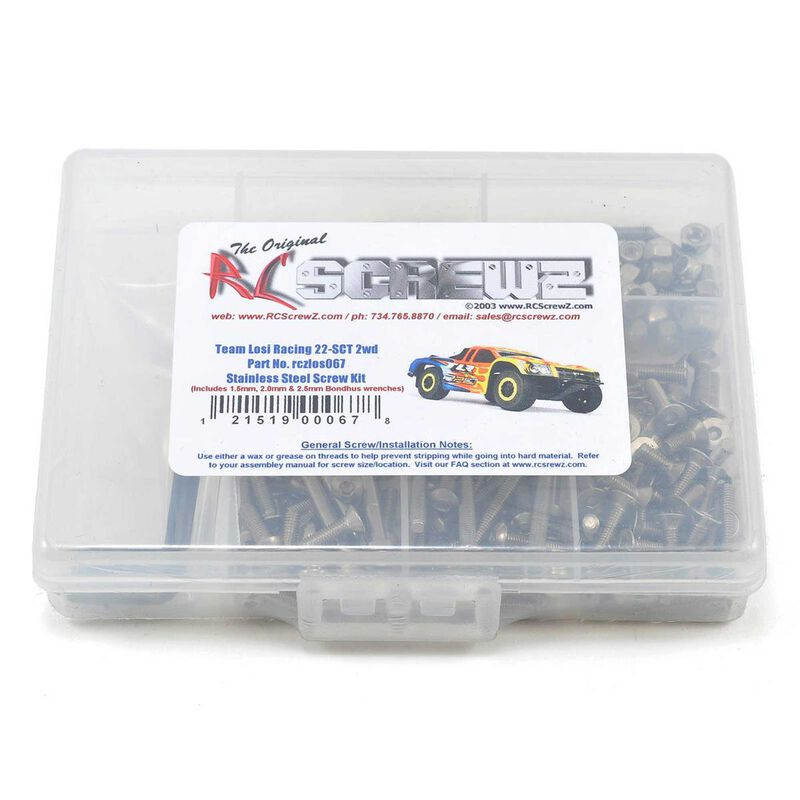 Stainless Steel Screw Kit: Losi 22-SCT 2WD