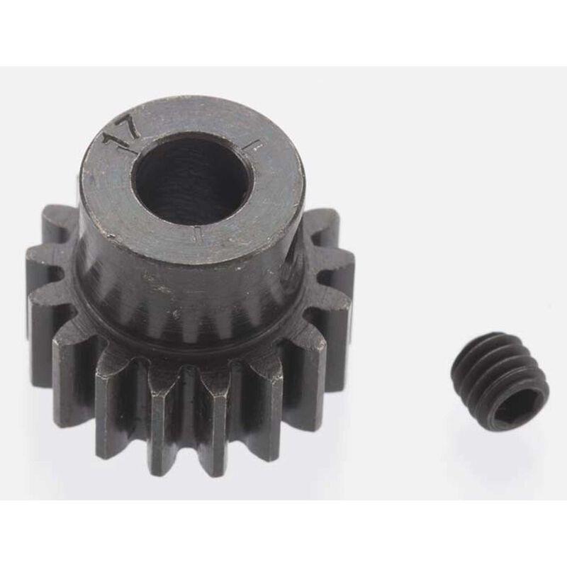 Extra Hard 17 Tooth Blackened Steel 32p Pinion, 5mm
