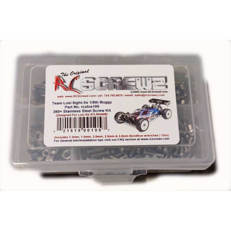 Stainless Steel Screw Kit: TLR 8IGHT-XE