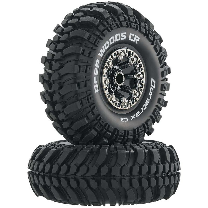 "Deep Woods CR C3 Mounted 2.2"" Crawler Tires, Chrome (2)"
