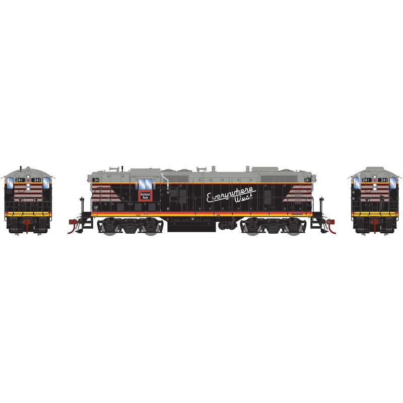 HO GP7 with DCC & Sound CB&Q Black #241